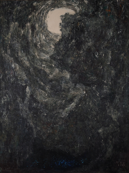 Geomeolchang (Deep Vertical Cave in Jeju Island), 2009, Acrylic on canvas, 259x193cm