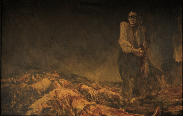 Between of the Living and the Dead, 1991, Oil on canvas, 140x227cm