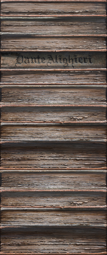 Hardbacks#7, 2015, Oil on canvas, 219x91cm (3panels)