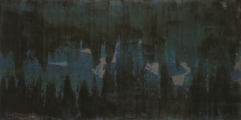 Calm and Serene, 2017, Natural lacquer on wood, 45×90cm×2