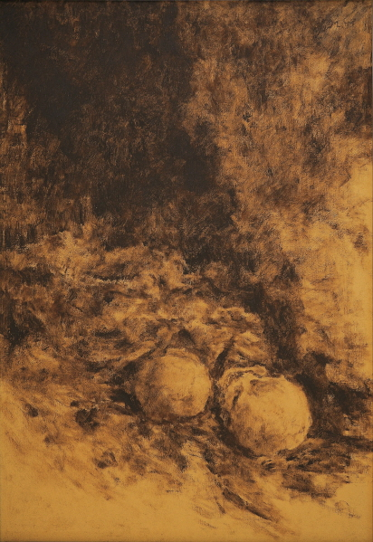The Remains in the Cave, 1992, Oil on canvas, 116.7x80.3cm