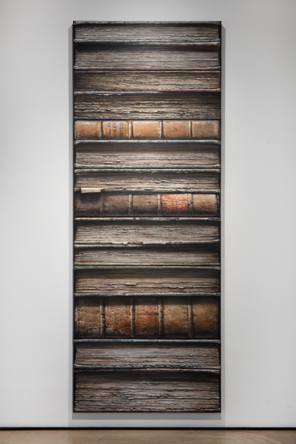 Hardbacks, 2017, Oil on canvas, 30x90cm (5 pieces), 45x90cm (2 pieces)