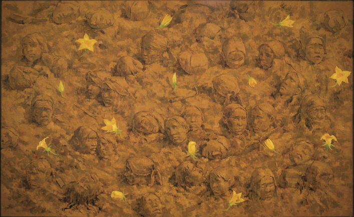 Song of the Soil, 1995, Oil on canvas, 162.2x259cm