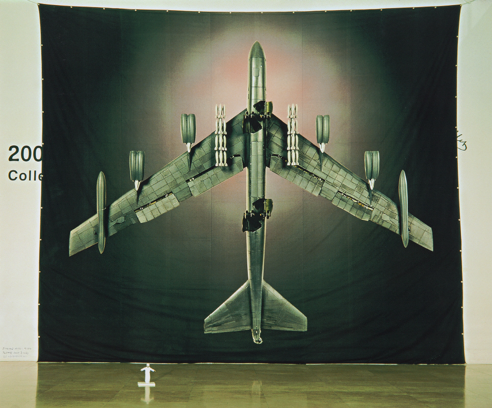 The Comparion of Size B-52 versus Bin Laden (110 scale), 2005, Digital print, 124.7x150.2cm