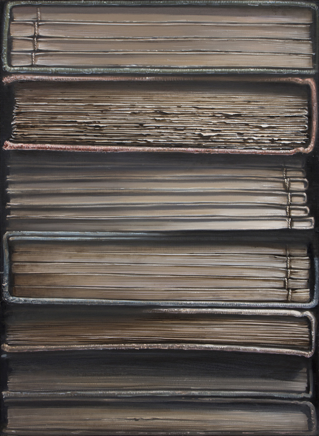 Hardbacks#6, 2015, Oil on canvas, 91x65cm