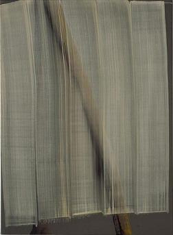 SONG Hyunsook 5 brushstrokes on 2 brushstrokes 2001 Tempera on canvas 133x97cm