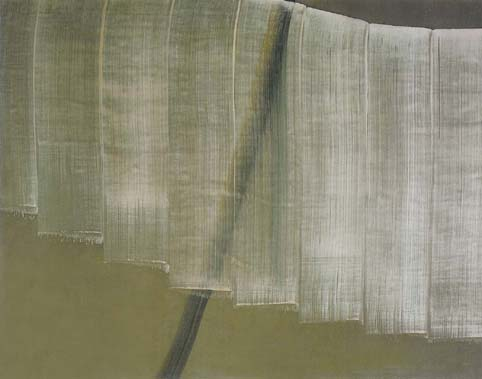 SONG Hyunsook 8 brushstrokes over 1 brushstroke Tempera on canvas
