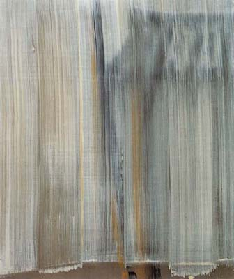 SONG Hyunsook 6 brushstrokes over 14 brushstrokes Tempera on canvas