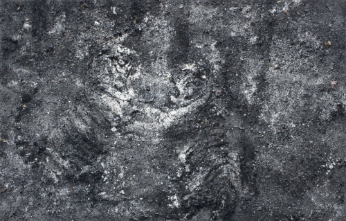 ZHANG HUAN Free Tiger Returns to Mountains No.27 2010 Ash on Linen 160x250cm