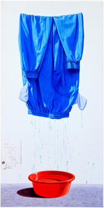 Lee Jong-gu Washing 3 2008 Acrylic on Korean Paper 180×90cm