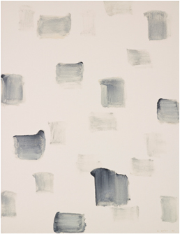 LEE Ufan With wind 1992 Oil and stone pigment 116x91cm