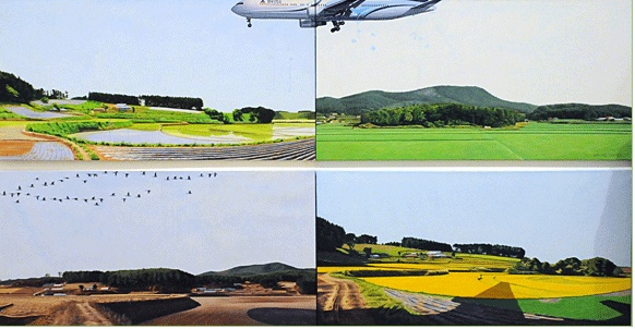 LEE Jong-gu Portrait-Season 2009 Acylic on Korean paper 73x145cm (each) 4pcs