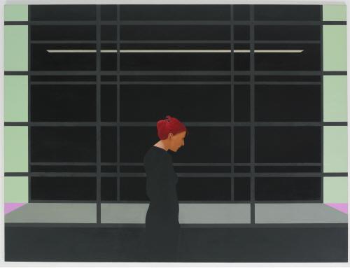 Tim EITEL GfZK schwartz 2001 Oil on canvas 180.3×240cm