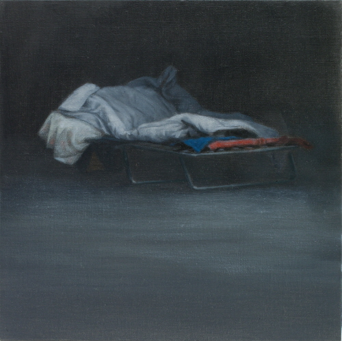 Tim EITEL Untitled(Cot) 2009 Oil on canvas, 22.9×22.9cm