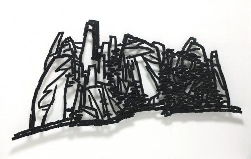 Untitled, 2012, Steel, Polyurethane, 130x254x14.5cm